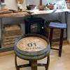 Oak Barrel Side Table/Coffee Table