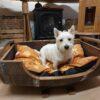 Large Oak Barrel Dog Bed